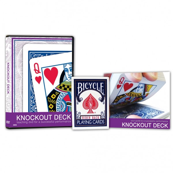 Knockout Deck with Teaching DVD - Zaubershop-Frenchdrop