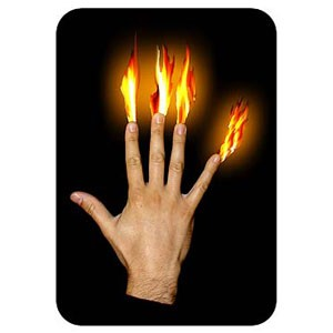 Brennende Finger - Flames at the Fingertips jetzt bei Zaubershop-Frenchdrop