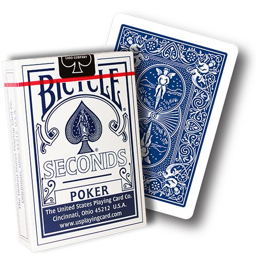 Bicycle 808 Rider Back Poker Deck Seconds - blue