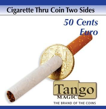 Zigarette durch Münze - Cigarette thru 50 Cent Euro günstig kaufen bei Zaubershop-Frenchdrop