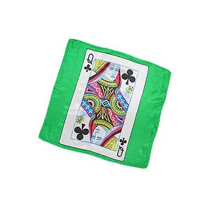 Card silk - Queen of Clubs - 30 cm (12 inches)