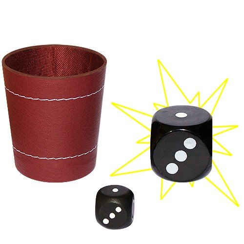 Chop Cup mit Würfel - Chop Cup With Dice bei Zaubershop Frenchdrop
