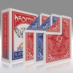 Phoenix - Parlour Doppelrücken Deck - rot auf der einen, blau auf der anderen Seite
