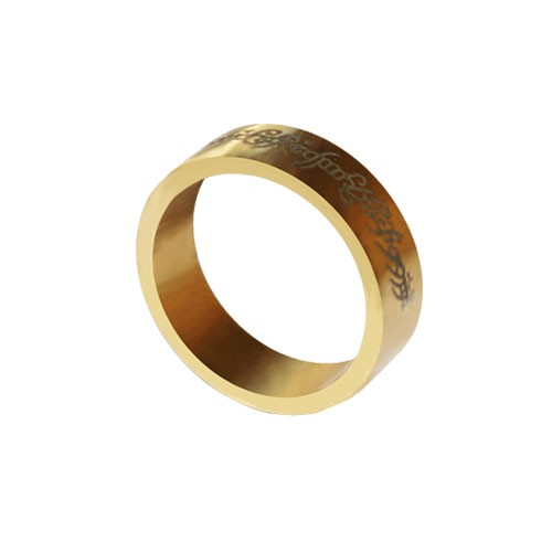 Magnetic Ring - Gold - Letters