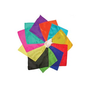 Silk squares - 15 cm (6 inches) - Set of 12 silks- Assorted dozen