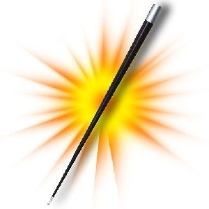 Erscheinender Stab - Appearing cane steel - Black | Zauberzubehör