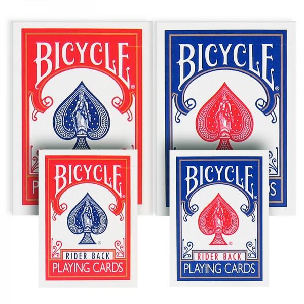 Mini Spielkarten von Bicycle mit rotem Rücken bei Zaubershop-Frenchdrop