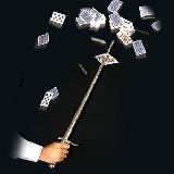 Kartenschwert - Schwert durch Karte - Kartendegen - Sword thru card