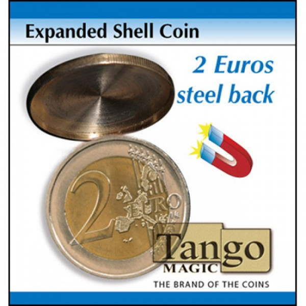 Expanded Shell Coin - (2 Euro, Steel Back) by Tango Magic