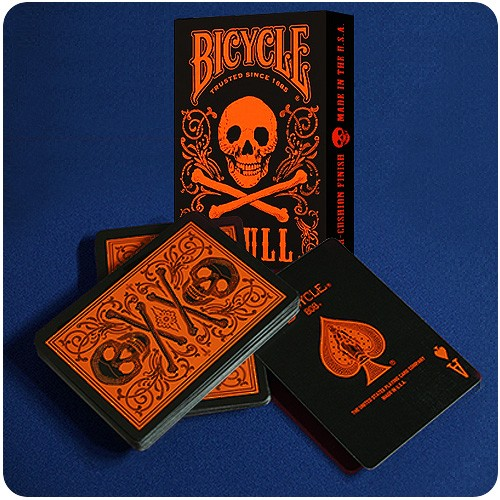Bicycle - Skull - Orange