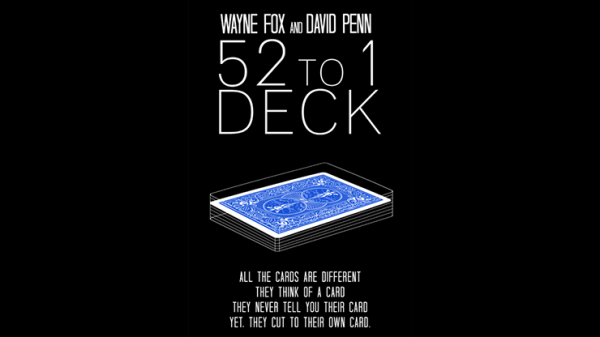 The 52 to 1 Deck Blue (Gimmicks and Online Instructions) by Zaubershop-Frenchdrop