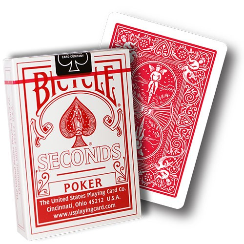 Bicycle 808 Rider Back Poker Deck Seconds - red