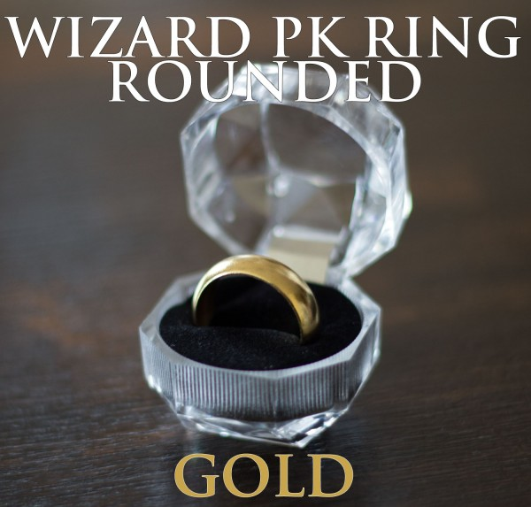 """PK Ring Modell """"Wizard Rounded"""" 19mm (Gold)"""