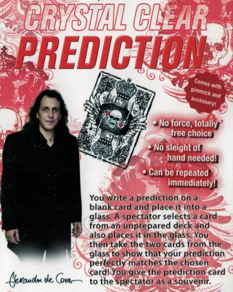 Crystal Clear Prediction Alexander de Cova bei Zaubershop-Frenchdrop