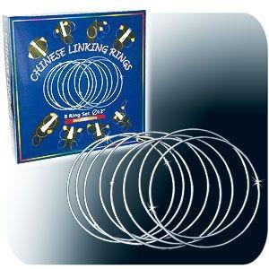 Ringspiel PRO - Linking Rings - ca. 30cm verchromt