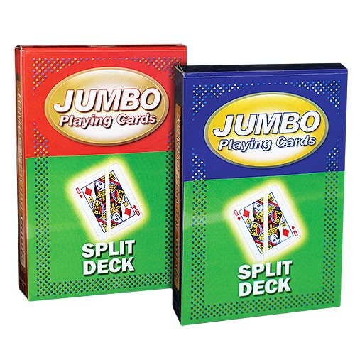 Jumbo Playing Cards - Split Cards - Roter Rücken