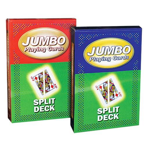 Jumbo Playing Cards - Split Cards - Roter Rücken