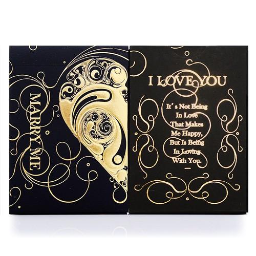 Love Promise of Vow - Black Back   Spielkarten