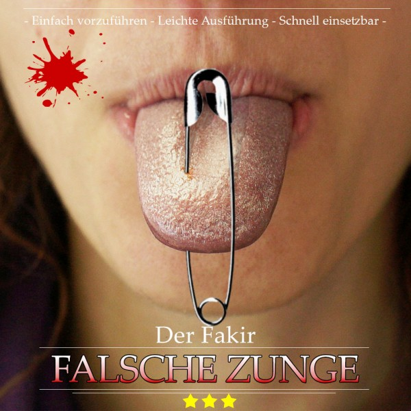 Fakir Falsche Zunge bei Zaubershop-Frenchdrop