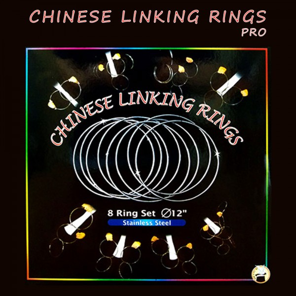 Ringspiel - Chinese Linking Rings -12 in. (cm. 30) - Stainless Steel | Zauberartikel