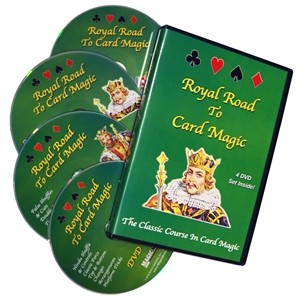 Royal Road To Card Magic - Complete Card Magic - 4 DVD Set
