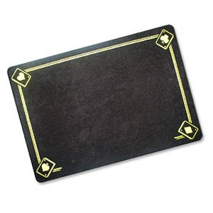 VDF Zauberunterlage - Aces - schwarz - Standard | Zauberzubehör
