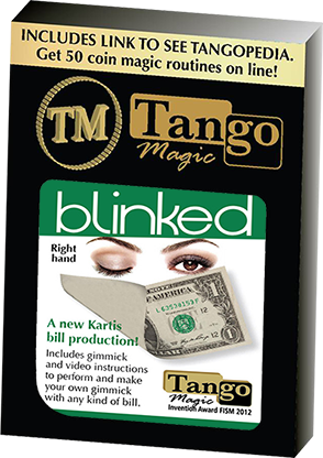 Tango Blinked Right Handed (Gimmick and Online Instructions) by Tango Magic | Zaubertrick