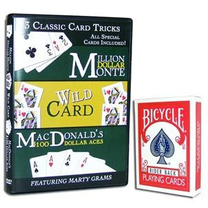 Ultimate Gaff Bicycle Deck with Bonus DVD Marty Gram's 3 Classic Card Tricks