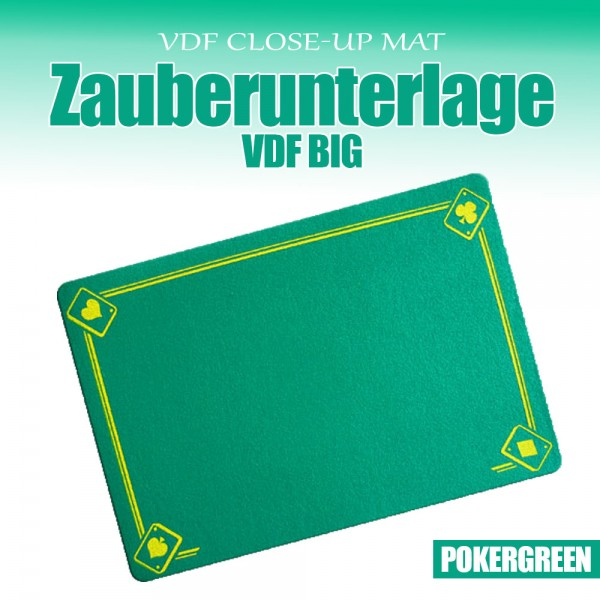 Zuberunterlage VDF Pokergreen - Zaubershop-Frenchdrop