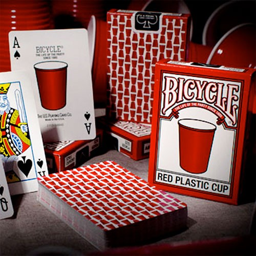 Bicycle - Red Plastic Cup