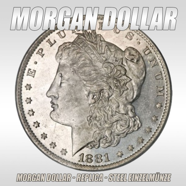 Morgan Dollar Steel Replica bei Zaubershop-Frenchdrop